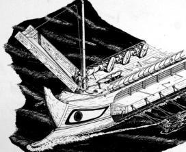 cloison étanche sur un navire de croisière